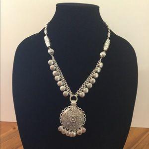 Beautiful Costume Silver Necklace